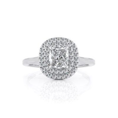 Halo Cushion Diamond ring