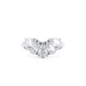 טבעת 5 יהלומי טיפה | אפרת