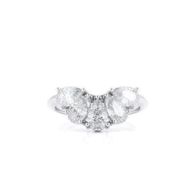 Five Pear Diamond ring