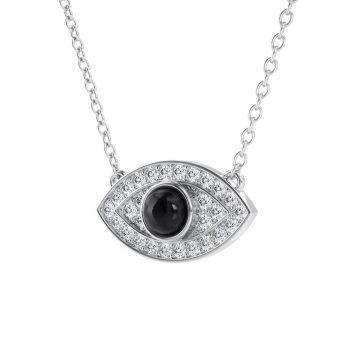 תליון עין יהלום שחור