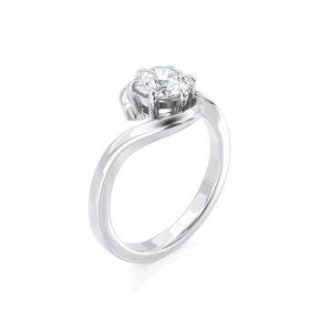 טבעת יהלום מיטל