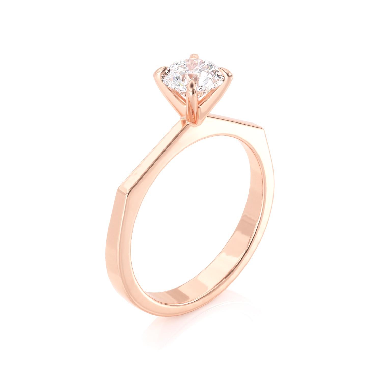 טבעת יהלום סוליטר | חווה