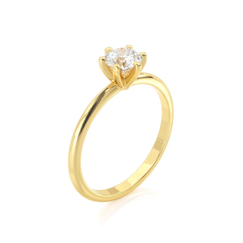 טבעת יהלום סוליטר | נלי