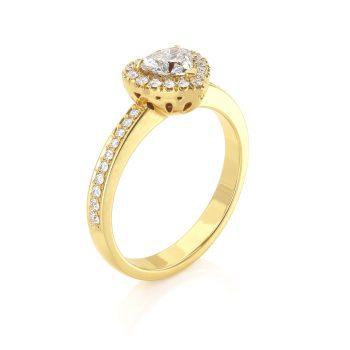 טבעת יהלום לב | טליה
