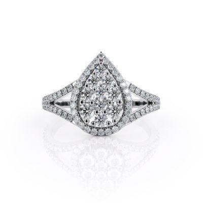 טבעת יהלום גלי