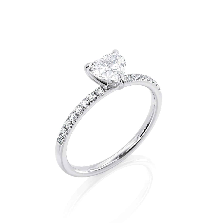 טבעת יהלום לב | גאיה