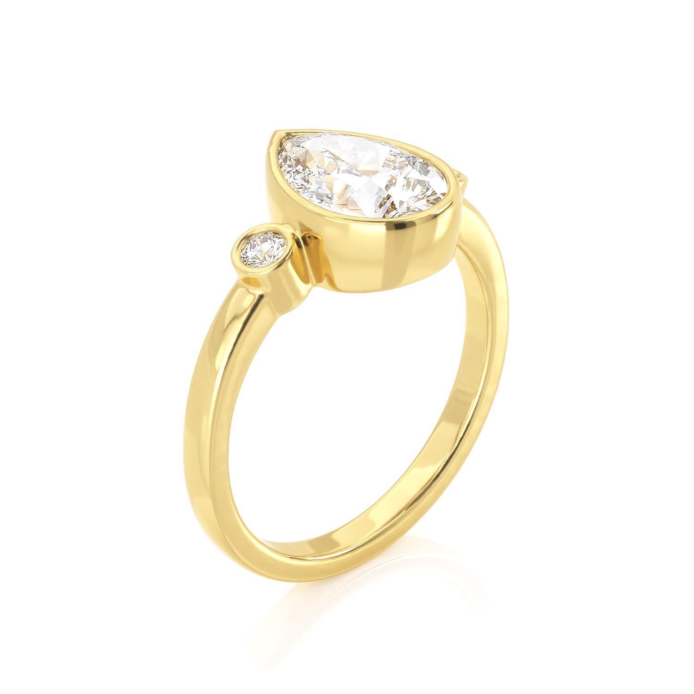 טבעת טיפה 1.5 קראט | סימה