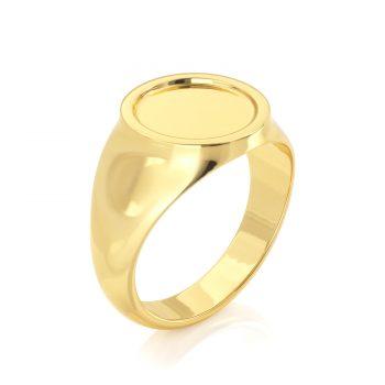 טבעת חותם זהב עמית