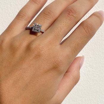 טבעת יהלום מרובע | מיקה