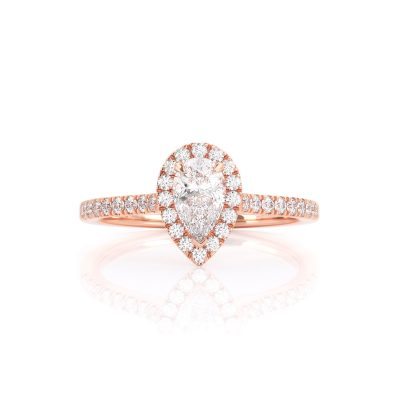 Halo Pear Diamond ring