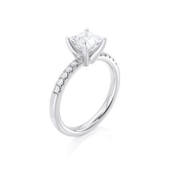טבעת יהלום לאה