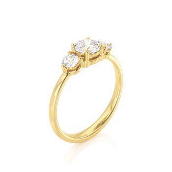 טבעת 3 יהלומים | עינת