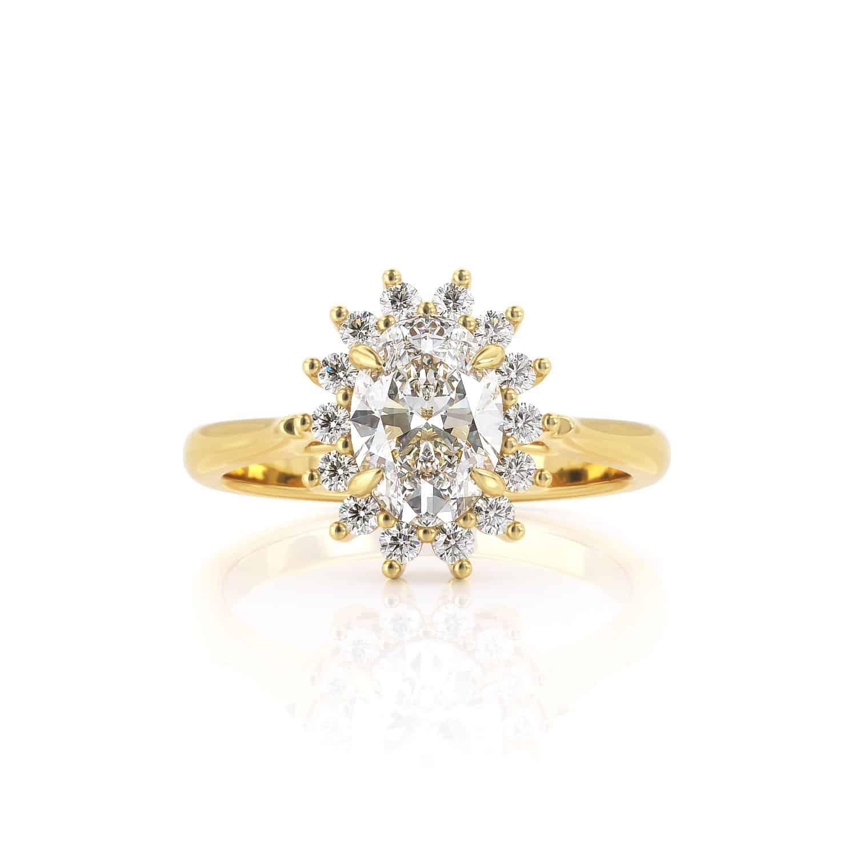 טבעת יהלום   דיאנה