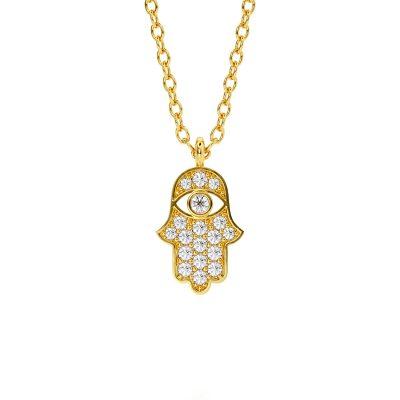 Diamond Hamsa Pendant
