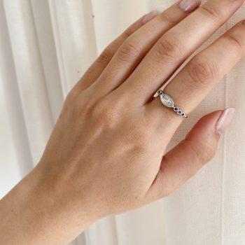 טבעת יהלום שביט | Marquise Diamond