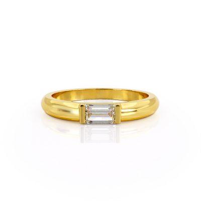 טבעת יהלום באגט