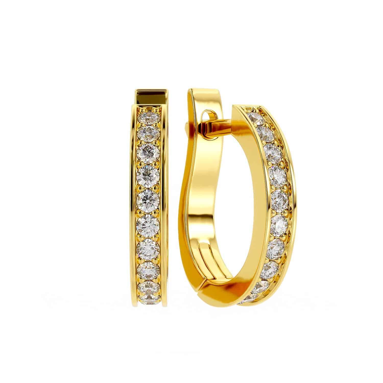 עגילי יהלום אורטל
