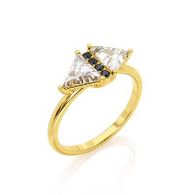 Art Deco Triangle Diamond