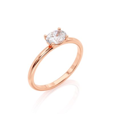 Rose Gold Oval Cut ring