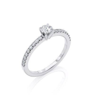 Minimal Solitaire Diamond ring