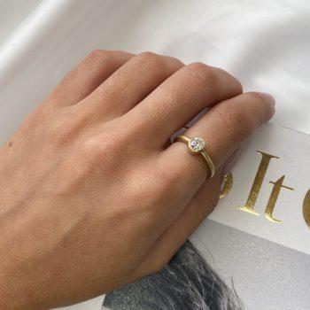 טבעת יהלום  סוליטר | שיר