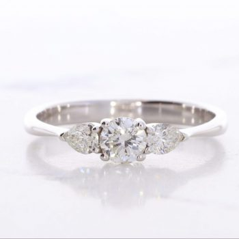 "Three Stone ""Miriam"" ring"
