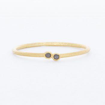 טבעת יהלומים שחורים Mfalme mdogo