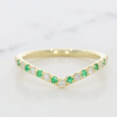 Emeralds & Diamonds Gold ring