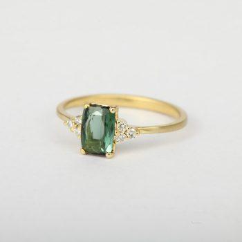 """טבעת זהב וטורמלין """"Yai"""""""