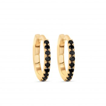 Black Diamonds Hoop earrings
