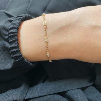 צמיד חוליות יהלומים