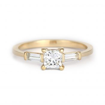 Princess&Baguette Cut Diamond Engagement ring