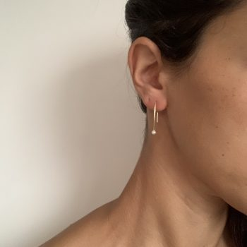 Threader Pearl earring