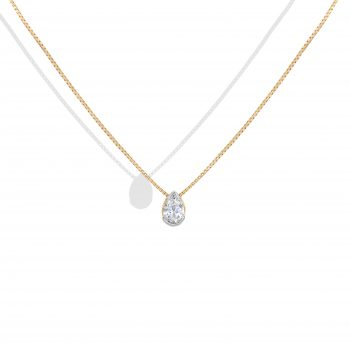 Pear Shape Diamond Gold Necklace