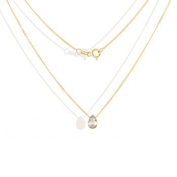 תליון יהלום טיפה | white diamond, drop cut Pendant – white Eye