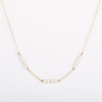 צו'קר פנינים לבנות | Bead Choker Pearl necklace