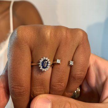 טבעת דיאנה | ספיר