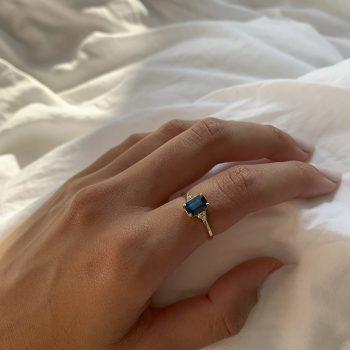 טבעת Yai |ספיר כחולה