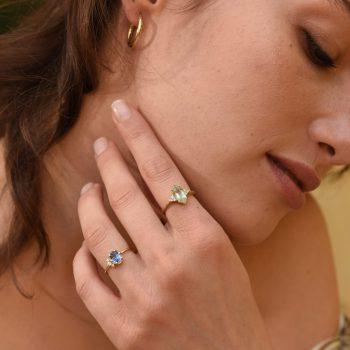 טבעת טורמלין טבעית