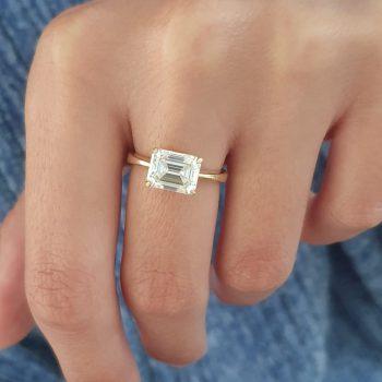 טבעת מוסונייט טבעית