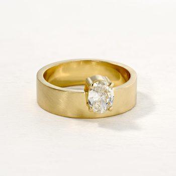טבעת יהלום אובל | Lunar