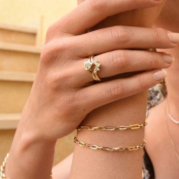 צמיד זהב חוליות